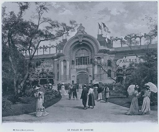 Le Palais Du Costume. Illustration for Le Panorama, Exposition Universelle, Paris, 1900 (Librairie d'Art).