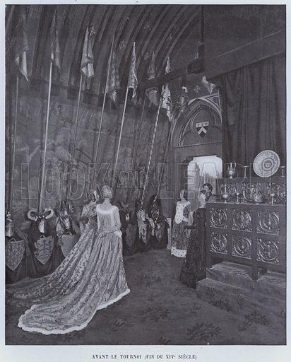 Avant Le Tournoi, Fin Du XIVe Siecle. Illustration for Le Panorama, Exposition Universelle, Paris, 1900 (Librairie d'Art).