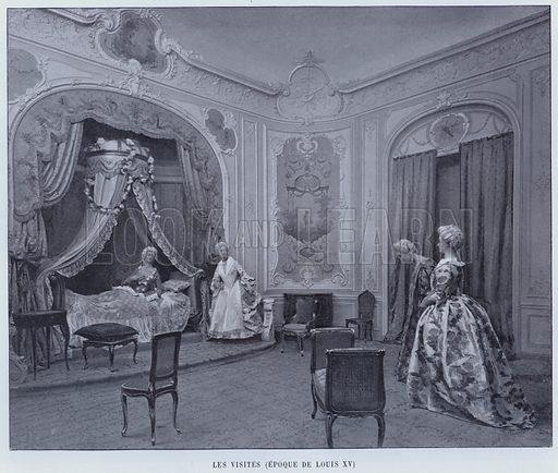 Les Visites, Epoque De Louis XV. Illustration for Le Panorama, Exposition Universelle, Paris, 1900 (Librairie d'Art).