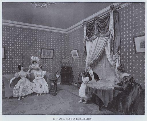 La Fiancee, Sous La Restauration. Illustration for Le Panorama, Exposition Universelle, Paris, 1900 (Librairie d'Art).
