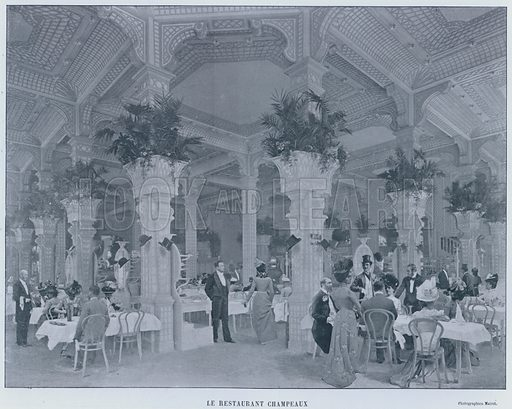 Le Restaurant Champeaux. Illustration for Le Panorama, Exposition Universelle, Paris, 1900 (Librairie d'Art).