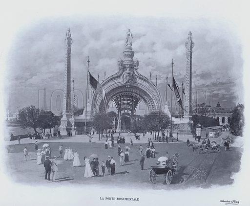 La Porte Monumentale. Illustration for Le Panorama, Exposition Universelle, Paris, 1900 (Librairie d'Art).