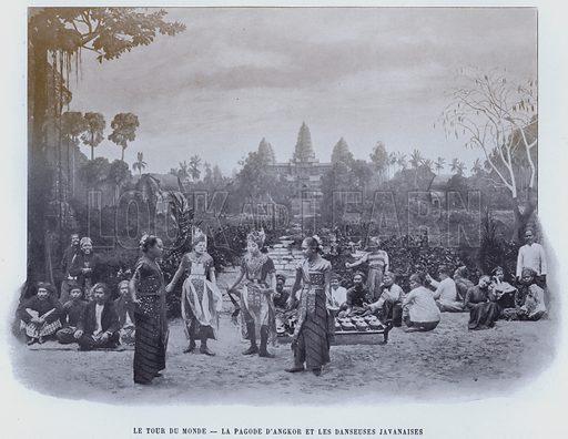 Le Tour Du Monde, La Pagode D'Angkor Et Les Danseuses Javanaises. Illustration for Le Panorama, Exposition Universelle, Paris, 1900 (Librairie d'Art).