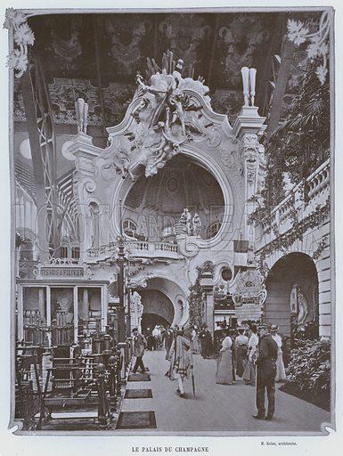 Le Palais Du Champagne. Illustration for Le Panorama, Exposition Universelle, Paris, 1900 (Librairie d'Art).