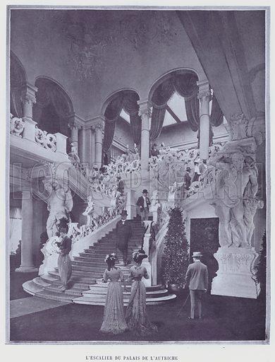 L'Escalier Du Palais De L'Autriche. Illustration for Le Panorama, Exposition Universelle, Paris, 1900 (Librairie d'Art).