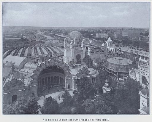 Vue Prise De La Premiere Plate-Forme De La Tour Eiffel. Illustration for Le Panorama, Exposition Universelle, Paris, 1900 (Librairie d'Art).