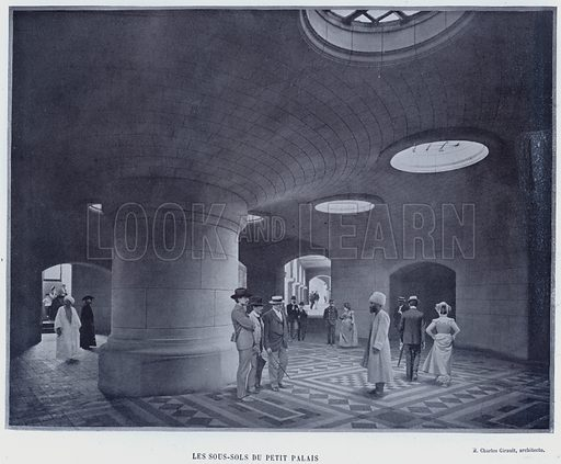 Les Sous-Sols Du Petit Palais. Illustration for Le Panorama, Exposition Universelle, Paris, 1900 (Librairie d'Art).