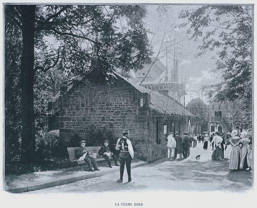 La Ferme Boer. Illustration for Le Panorama, Exposition Universelle, Paris, 1900 (Librairie d'Art).
