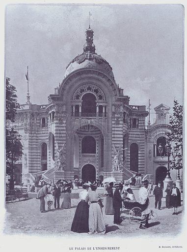 Le Palais De L'Enseignement. Illustration for Le Panorama, Exposition Universelle, Paris, 1900 (Librairie d'Art).