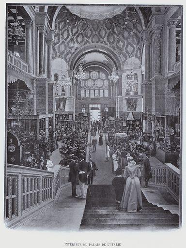 Interieur Du Palais De L'Italie. Illustration for Le Panorama, Exposition Universelle, Paris, 1900 (Librairie d'Art).