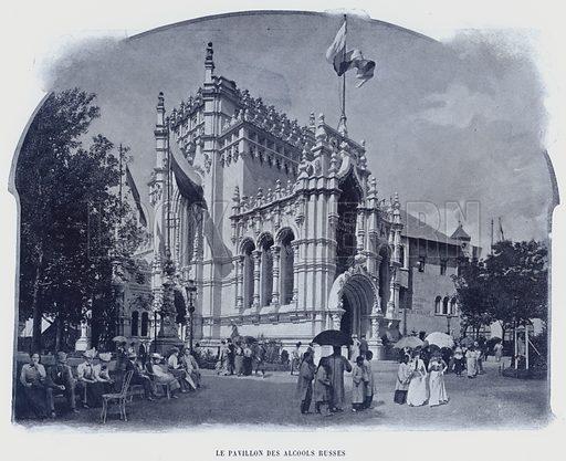 Le Pavillon Des Alcools Russes. Illustration for Le Panorama, Exposition Universelle, Paris, 1900 (Librairie d'Art).