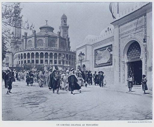 Un Cortege Colonial Au Trocadero. Illustration for Le Panorama, Exposition Universelle, Paris, 1900 (Librairie d'Art).