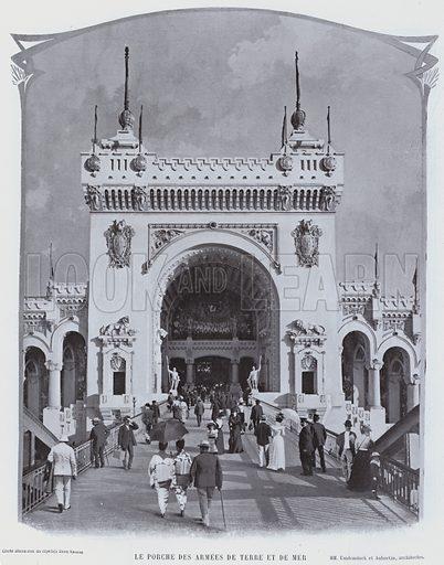 Le Porche Des Armees De Terre Et De Mer. Illustration for Le Panorama, Exposition Universelle, Paris, 1900 (Librairie d'Art).