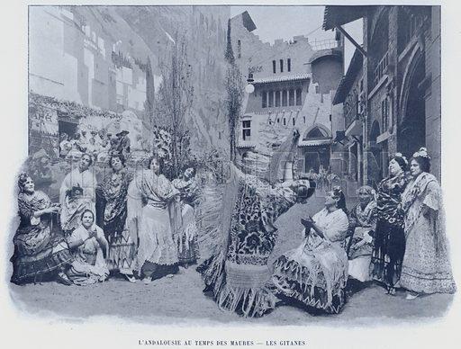 L'Andalousie Au Temps Des Maures, Les Gitanes. Illustration for Le Panorama, Exposition Universelle, Paris, 1900 (Librairie d'Art).