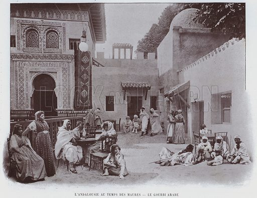 L'Andalousie Au Temps Des Maures, Le Gourbi Arabe. Illustration for Le Panorama, Exposition Universelle, Paris, 1900 (Librairie d'Art).