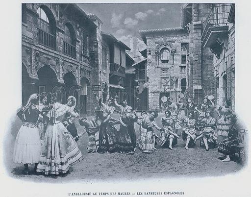 L'Andalousie Au Temps Des Maures, Les Danseuses Espagnoles. Illustration for Le Panorama, Exposition Universelle, Paris, 1900 (Librairie d'Art).