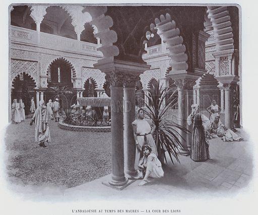 L'Andalousie Au Temps Des Maures, La Cour Des Lions. Illustration for Le Panorama, Exposition Universelle, Paris, 1900 (Librairie d'Art).