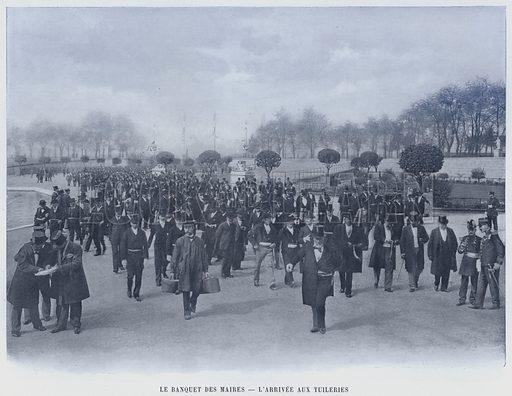 Le Banquet Des Maires, L'Arrivee Aux Tuileries. Illustration for Le Panorama, Exposition Universelle, Paris, 1900 (Librairie d'Art).