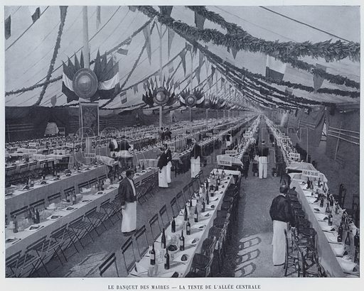 Le Banquet Des Maires, La Tente De L'Allee Centrale. Illustration for Le Panorama, Exposition Universelle, Paris, 1900 (Librairie d'Art).