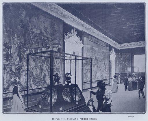 Le Palais De L'Espagne, Premier Etage. Illustration for Le Panorama, Exposition Universelle, Paris, 1900 (Librairie d'Art).