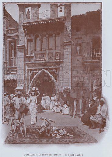 L'Andalousie Au Temps Des Maures, La Belle Lallah. Illustration for Le Panorama, Exposition Universelle, Paris, 1900 (Librairie d'Art).