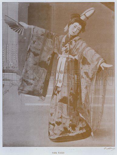 Sada Yacco. Illustration for Le Panorama, Exposition Universelle, Paris, 1900 (Librairie d'Art).
