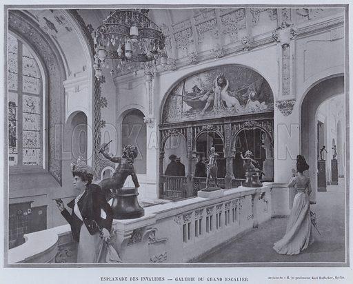 Esplanade Des Invalides, Galerie Du Grand Escalier. Illustration for Le Panorama, Exposition Universelle, Paris, 1900 (Librairie d'Art).