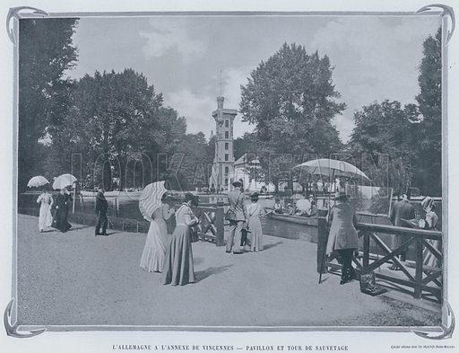 L'Allemagne AL'Annexe De Vincennes, Pavillon Et Tour De Sauvetage. Illustration for Le Panorama, Exposition Universelle, Paris, 1900 (Librairie d'Art).