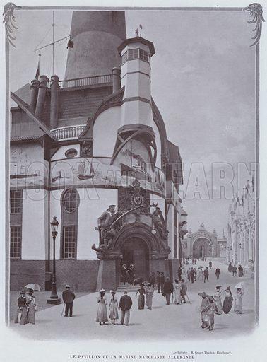 Le Pavillon De La Marine Marchande Allemande. Illustration for Le Panorama, Exposition Universelle, Paris, 1900 (Librairie d'Art).