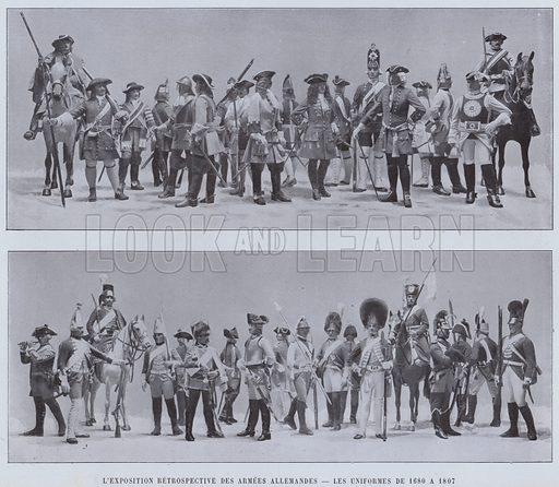 L'Exposition Retrospective Des Armees Allemandes, Les Uniformes De 1680 A 1807. Illustration for Le Panorama, Exposition Universelle, Paris, 1900 (Librairie d'Art).