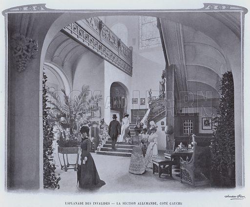 Esplanade Des Invalides, La Section Allemande, Cote Gauche. Illustration for Le Panorama, Exposition Universelle, Paris, 1900 (Librairie d'Art).