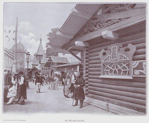 Le Village Russe. Illustration for Le Panorama, Exposition Universelle, Paris, 1900 (Librairie d'Art).