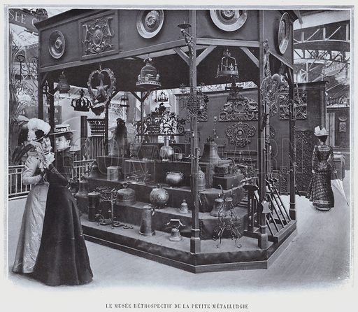 Le Musee Retrospectif De La Petite Metallurgie. Illustration for Le Panorama, Exposition Universelle, Paris, 1900 (Librairie d'Art).
