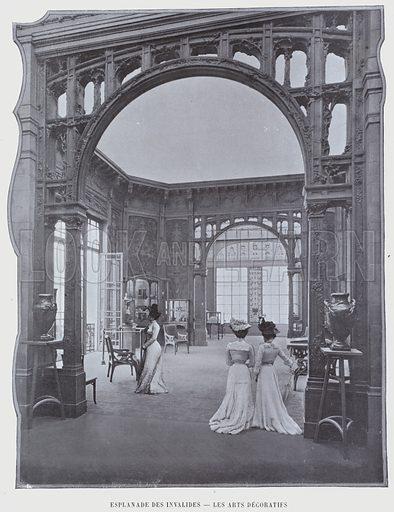 Esplanade Des Invalides, Les Arts Decoratifs. Illustration for Le Panorama, Exposition Universelle, Paris, 1900 (Librairie d'Art).