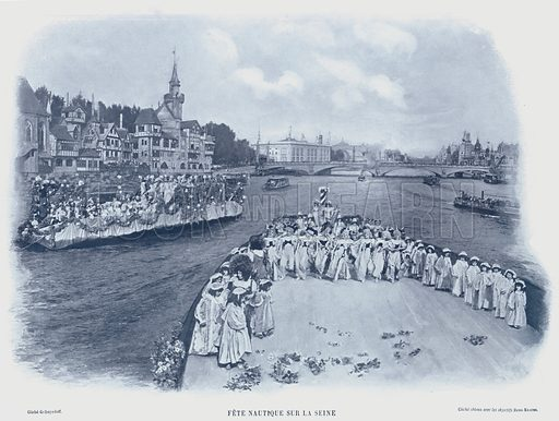 Fete Nautique Sur La Seine. Illustration for Le Panorama, Exposition Universelle, Paris, 1900 (Librairie d'Art).