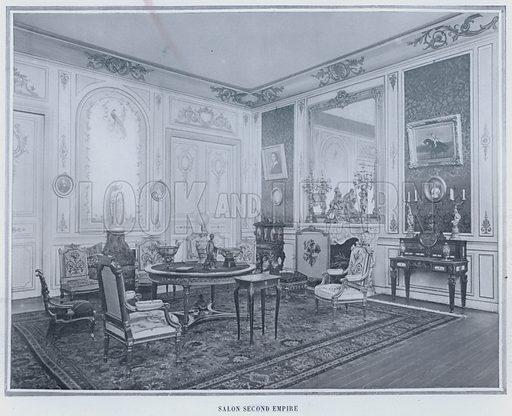 Salon Second Empire. Illustration for Le Panorama, Exposition Universelle, Paris, 1900 (Librairie d'Art).