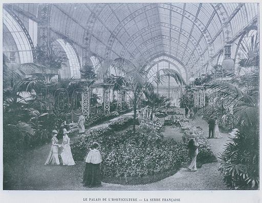 Le Palais De L'Horticulture, La Serre Francaise. Illustration for Le Panorama, Exposition Universelle, Paris, 1900 (Librairie d'Art).
