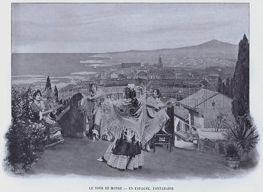 Le Tour Du Monde, En Espagne, Fontarabie. Illustration for Le Panorama, Exposition Universelle, Paris, 1900 (Librairie d'Art).