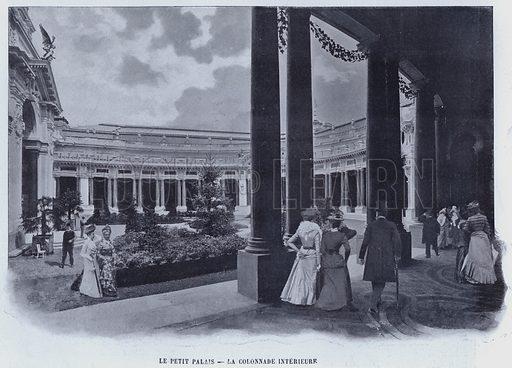 Le Petit Palais, La Colonnade Interieure. Illustration for Le Panorama, Exposition Universelle, Paris, 1900 (Librairie d'Art).
