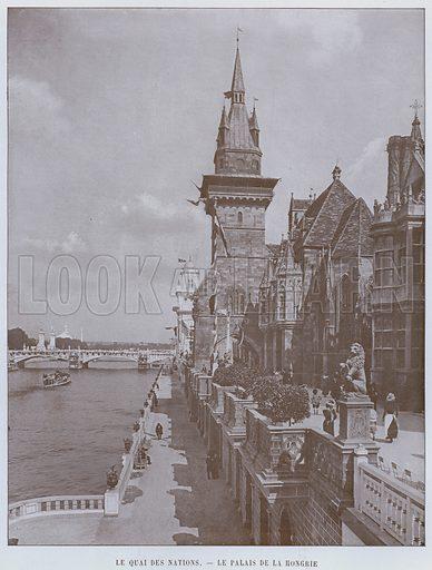 Le Quai Des Nations, Le Palais De La Hongrie. Illustration for Le Panorama, Exposition Universelle, Paris, 1900 (Librairie d'Art).