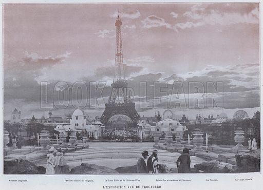 L'Exposition Vue Du Trocadero. Illustration for Le Panorama, Exposition Universelle, Paris, 1900 (Librairie d'Art).