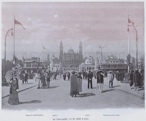 Le Trocadero, Vu Du Pont D'Iena. Illustration for Le Panorama, Exposition Universelle, Paris, 1900 (Librairie d'Art).