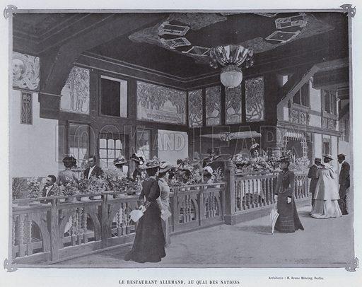 Le Restaurant Allemand, Au Quai Des Nations. Illustration for Le Panorama, Exposition Universelle, Paris, 1900 (Librairie d'Art).