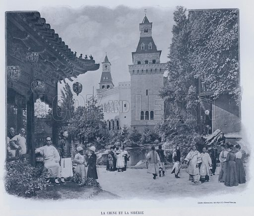 La Chine Et La Siberie. Illustration for Le Panorama, Exposition Universelle, Paris, 1900 (Librairie d'Art).