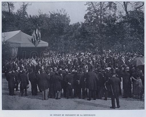 Le Depart Du President De La Republique. Illustration for Le Panorama, Exposition Universelle, Paris, 1900 (Librairie d'Art).