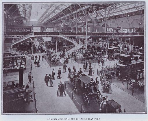 Le Musee Centennal Des Moyens De Transport. Illustration for Le Panorama, Exposition Universelle, Paris, 1900 (Librairie d'Art).