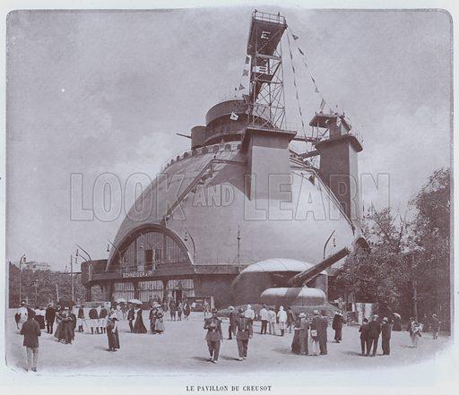 Le Pavillon Du Creusot. Illustration for Le Panorama, Exposition Universelle, Paris, 1900 (Librairie d'Art).