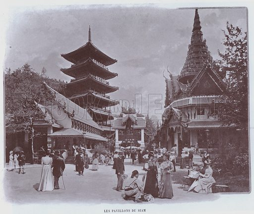 Les Pavillons Du Siam. Illustration for Le Panorama, Exposition Universelle, Paris, 1900 (Librairie d'Art).
