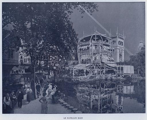 Le Pavillon Bleu. Illustration for Le Panorama, Exposition Universelle, Paris, 1900 (Librairie d'Art).