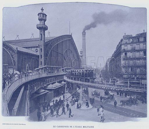 Le Carrefour De L'Ecole Militaire. Illustration for Le Panorama, Exposition Universelle, Paris, 1900 (Librairie d'Art).